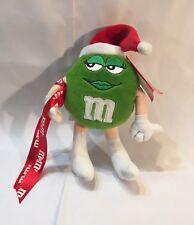 "Vintage M&Ms GREEN GIRL IN SANTA HAT CHRISTMAS 12"" Plush STUFFED Toy w/ TAG"