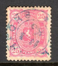 Finland - 1875 Def. Coat of Arms Mi. 17Byb FU (Perf. 12,5, thinned)  a