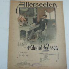 song sheet ALLERSEELEN tiefe stimme, Eduard Lassen Op 85/3