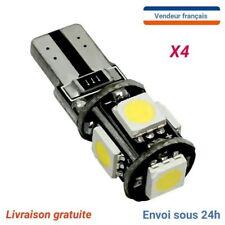 4 LED VEILLEUSES W5W T10 Canbus ANTI ERREUR ODB BLANC XENON