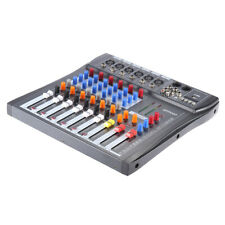 Professional 6 Channel Live Mixing Studio Audio Sound Mixer Console USB H8S6