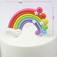 1 X große Regenbogen Kuchen Topping Cupcake Topper Geburtstagstorte Dessert Deko