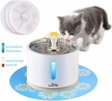 Stainless Steel Pet Cat Water Fountain 81oz/2.4L Dog Water Dispenser Filters