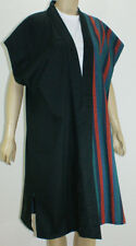 Hand-made reversible coat made from kimono (a striped design) 100% cotton #1951
