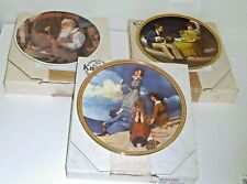 Set 3 Knowles Norman Rockwell Collector Plates Pondering on the Porch New
