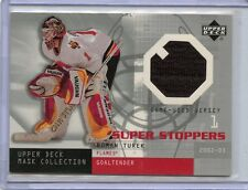 2002-03 UPPER DECK MASK COLLECTION SUPER STOPPERS ROMAN TUREK GAME WORN JERSEY