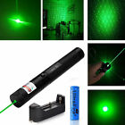 Military 5mw 532nm G303 Green Laser Pointer Pen Adjustable Focus + Battery + Cap