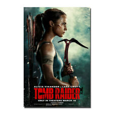 Tomb Raider Movie 2018 Alicia Vikander Lara Croft Silk Poster Print 32x48 inch