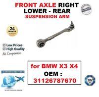 Eje delantero Lado Derecho Inferior Trasero Brazo de Suspensión para BMW x 3 x 4