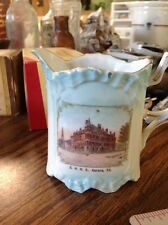 east aurora high school porcelain pitcher 1900 advertising illinois ill il