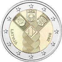 Lettland 2 Euro 100 Jahre Unabhängigkeit 2018 bankfrische Gemeinschaftsausgabe