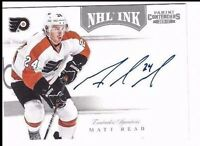 2011-12 Panini Contenders autographed hockey card Matt Read Philadelphia Flyers