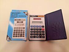 '80s Sharp EL-376C ElsiMate solar calculator w/box