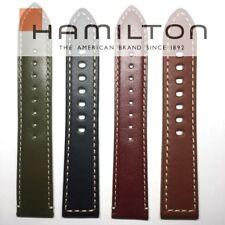 (No clasp)Hamilton Khaki Field 20mm 22mm Leather Band Strap H70455553, H70455533
