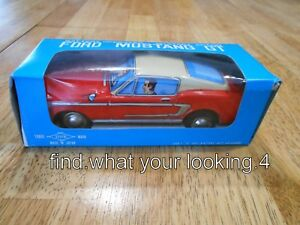 VINTAGE 1960'S MUSTANG GT DAISHIN JAPAN WITH ORIGINAL BOX WORKS WELL SEE VIDEO