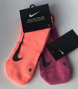 2 x Nike Multiplier No Show Socks Dri-Fit UNISEX Cushioned Running Gym (2 Pairs)