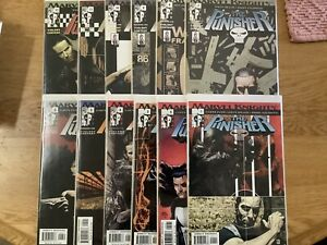 THE PUNISHER 1 - 12 Lot Comics Marvel Knights Ennis Lot VF/NM