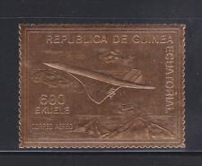 AV211 - AVIATION STAMPS GUINEA EQUATORIAL 1974 AIRPLANES CONCORDE GOLD FOIL MNH