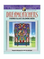 Creative Haven Dreamcatchers Stained Glass Coloring Book (Adult... Free Shipping
