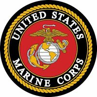 Large US Marines Logo Vinyl Sticker Decal 4 Stickers