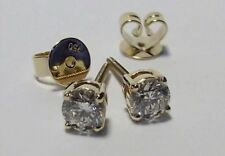 18ct Gold Diamond 0.61ct earrings Clarity SI 1/F with screw in backs for securit