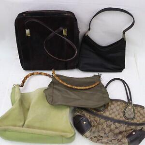Gucci PVC Suede Leather Nylon Unborn Calf Hand/shoulder Bag  5pc set 520075