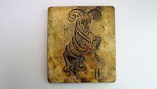 """Tile Plate Zodiac """" Aries """" Ceramic Vintage 70's Vallauris Capron?"""