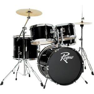 Rogue 5-Piece Complete Drum Set Black