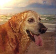 Pet portrait hand painted by award winning artist