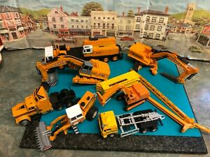 Bundle of construction / Plant model die cast vehicles , spares and repairs