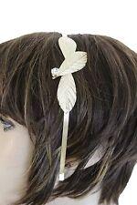 New Women Casual Wear Gold Metal Multi Leaves Charm Headband Girl Teen Accessory
