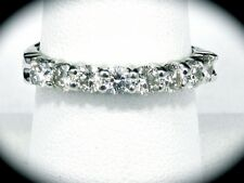 14K White Gold Diamond Wedding Band 1.0 TCW