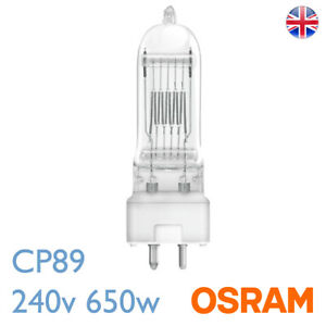 Osram CP89 240v 650w GY9.5 FRM Osram 64717 Stage Theatre Bulb Lamp CP89 UK Stock
