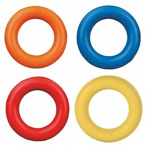 XL  Rubber Ring Dog Chew Fetch Toy Donut Waterproof assorted colours - 15cm