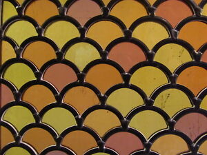 Newly crafted STAINED GLASS WINDOW Panel VICTORIAN GLASS (cc 1862) 225 by 223mm
