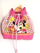 Disney Store Minnie Mouse Handbag Rucksack Swimming Bag Pink Glitter Swim