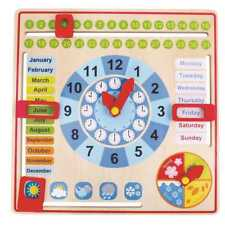 Wooden Children's Calendar   Weather Seasons Date Day month week time   My