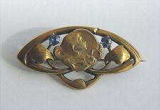 Antike Brosche Jugendstil 14 Karat Gold Wien um 1900