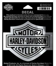 Harley-Davidson® Bar & Shield Logo Chrome & Black Decal Sticker (4x3) D3023C