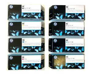 8 Original Tinte HP Designjet Z6100 / Nr. 91 C9464A C9465A C9466A - C9471A INK