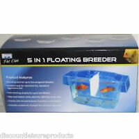 Aquarium Fish Breeding Box Tank Fry Trap Hatchery - 5 In 1 PPI Floating Breeder