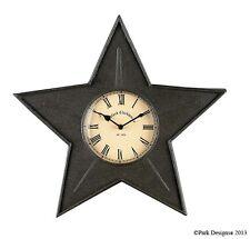 "Black Star Metal Wall Clock by Park Designs - 16"" x 16"""