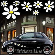 Kit adesivi MARGHERITE adesivi fiori per SMART FIAT 500 car Flowers stickers