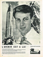 PUBLICITE ADVERTISING    1960   PENTO   hair cream  l'avenir est  à lui
