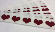 "500 RED HEART 1"" inch SCRATCH OFF STICKERS LABELS TICKETS PROMOTIONAL GAME FAVOR"