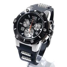 Invicta Speedway Stainless Steel & Black Silicone Chronograph Mens Watch 22235