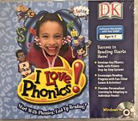 DK I Love Phonics Pc Brand New Win10 8 7 XP Teaching Games 300 Essential Words