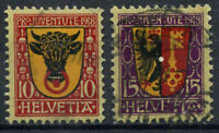 Switzerland 1918 Mi. 143-144 Used 100% coat of arms, Pro Juventute