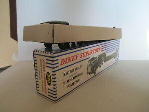 DINKY 890 BERLIET T6 TANK TRANSPORTER MIB RARE ISSUE 9 EN BOITE RARE VERSIONL@@K