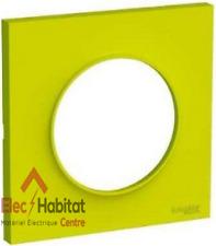 Plaque simple Schneider Odace styl vert chartreuse S520702H
